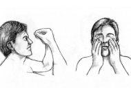 Pozycja 1 w okolicy tzw. trzeciego oka, czyli pomiędzy grzbietem nosa a punktem między brwiami