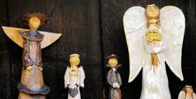 anioły, miejsce na ziemi, ceramika, artyści, Bogusia Rudnicka, folk art
