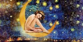 gwiazda,księżyc,kobieta,symbole, niebo, wierzenia, religie, obyczaje, język symboli