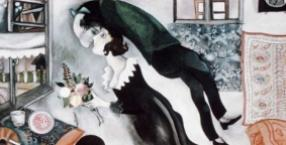 malarstwo, pocałunek, obraz, sztuka, historia jednego obrazu, Marc Chagall, Bella Rosenfeld