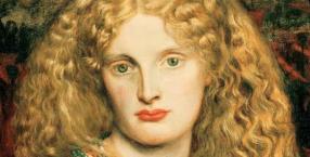 """Twarz """"Helenie Trojańskiej"""" (1863 r.) Dantego Gabriela Rossettiego użyczyła Annie Miller, ulubiona modelka angielskich prerafaelitów."""