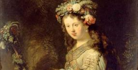 malarstwo, Rembrandt, obraz, sztuka, Flora, Rembrandt Harmeszoon van Rijn