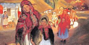 """Wielkanoc w Bronowicach"""", Włodzimierz Tetmajer, 1904"""