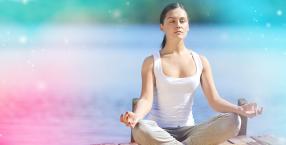 oddech, jezioro, medytacja, joga