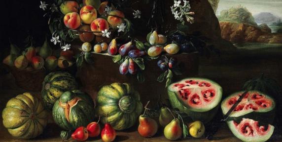 Arbuzy 300 lat temu na obrazie Giovanniego Stanchi