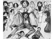 Rysunek Witkacego: Skutki małżeństwa z Żydówką, czyli z siostrą Józefy Oderfeld, Anną, o której względy artysta zabiegał