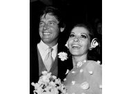 Ślub Rogera Moore'a z Luisą Mattioli, 11 kwietnia 1969 r.