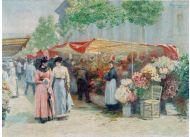 Targ na kwiaty przed kościołem św. Magdaleny w Paryżu – impresjonistyczny obraz Pankiewicza z 1890 r.