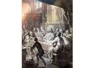 """""""Ostatnia wieczerza"""", grafika Martinusa van den Endena, 1640-1642 r."""