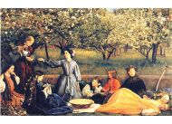 """Choć Ruskin okrzyknął Effie """"zabójczynią talentu Millaisa"""", malarz nie sprawiał wrażenia ofiary. Chętnie malował swoją rodzinę, jak na obrazie """"Wiosna"""" (1859)"""