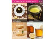 12 trendów kulinarnych: kawa z masłem (Bulletproof Coffee), kombucza (sfermentowana herbata), zielona herbata: matcha, kiszona kapusta