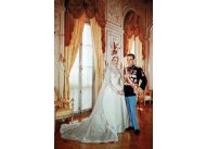 Aktorka Grace Kelly już jako księżna Grace Grimaldi z księciem Rainierem III