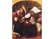 """John Everett Millais często malował swoją rodzinę. Tu obraz """"Pakt pokojowy"""" (1856)"""