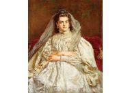 ''Portret żony w stroju ślubnym'' to szybko odtworzona druga wersja obrazu, pierwszą Teodora zniszczyła w porywie wściekłości i zazdrości