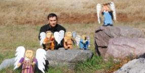 Ewa i Tadeusz Maculewicz, Derec, rzeźbiarstwo, anioły