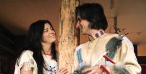 Indianie, squaw, tipi, łapacz snów, Wielkie Równiny, wioska indiańska