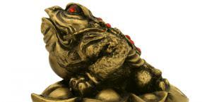 feng shui, zguba, prezent, żaba
