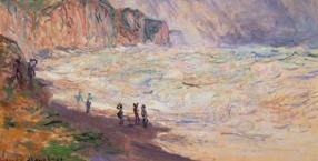Plaża w Pourville, Claude Monet, malarstwo, malarz