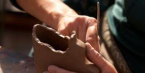 anioły, ekologia, artysta , ceramika, recycling, decoupage, sztuka