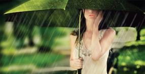 symbole, deszcz