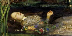malarstwo, Elizabeth Eleanor Siddal, John Everett Millais, prerafaelici, Ofelia, Hamlet, topielica, samobójstwo, Nick Cave