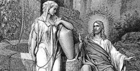 Jezus rozmawia z Samarytanką przy studni