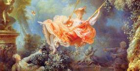 """Huśtawka"", Jean-Honoré Fragonard, 1767-1778, 81 x 64 cm, olej na płótnie, Wallace Collection, London"