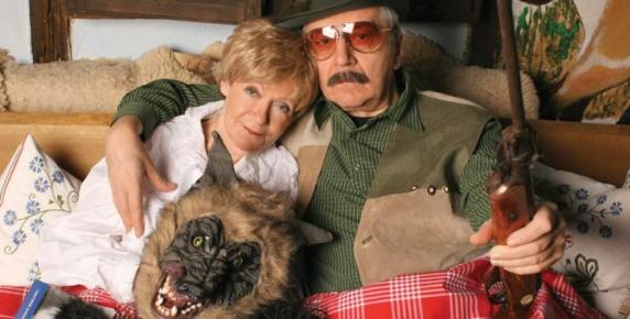 Maria Czubaszek z mężem, Wojciechem Karolakiem