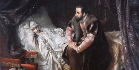 Zygmunt August i Barbara Radziwiłłówna