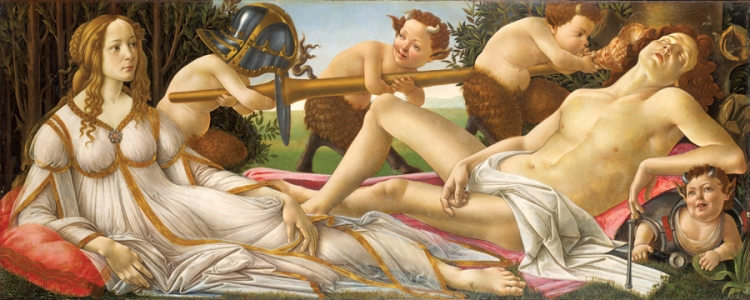 Wenus i Mars, Sandro Botticelli, National Gallery